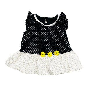 Carter's B&W Floral Dress w/Diaper Cover